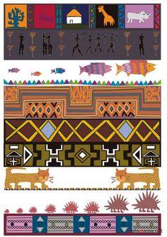 """Африканский бордюр (этнос) """" ALLDAY - народный сайт о дизайн…"""