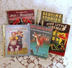 5 Vintage Golden Childrens Books 1942-1958 by AmericanVintageAve on Etsy