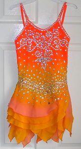 Ice/Roller Figure skating dress/Baton Twirling Leotard/Dance Costume Made to Fit   eBay