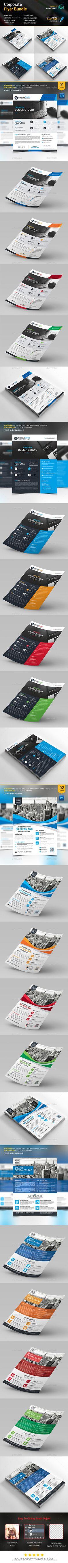 Flyer Bundle 2 in 1 - Corporate Flyers Print Design, Web Design, Business Flyer Templates, Corporate Flyer, Green Landscape, Brochures, Flyer Design, Creative Design, Banners