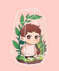 I'm making a bunch of little dans and putting them in my mom's weird plant things that look like this now • Dan Howell//
