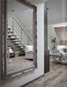 Extra large wall mirror.
