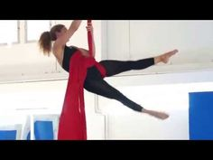 Aerial silks routine - YouTube...hitch work at beginning