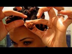 Bantu flat out on 4c natural hair   for the Bantu knot challenged naturalista - YouTube - i need to try this method