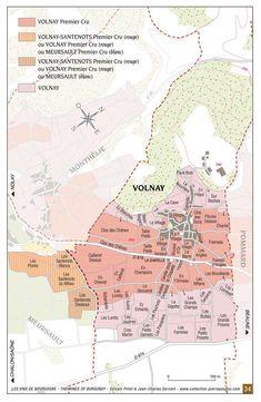 Carte des crus de Volnay degustateurs.pro