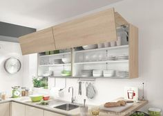 Handleless kitchens in London, Kent and UK. Flush fitting kitchen doors and drawer fronts, The LINE N collection from Nobilia at The Kitchen Link. Nobilia Kitchen, Kitchen Doors, Kitchen Cabinet Design, Open Plan Kitchen, Modern Kitchen Design, Kitchen Living, Kitchen Storage, Storage Spaces, Kitchen Cabinets