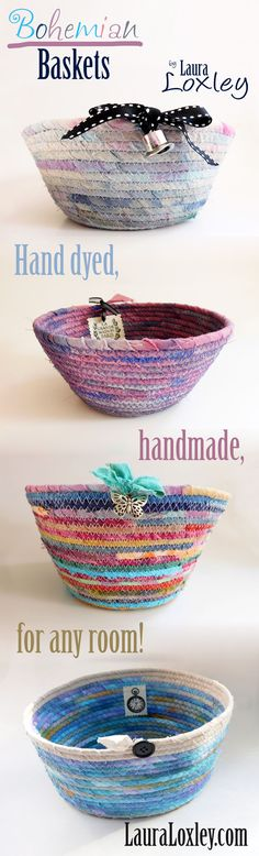 LauraLoxley.com has so many cute boho baskets to choose from! Which one would you choose? Visit her shop on Etsy at LauraLoxley.com