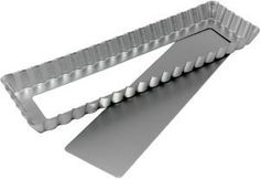 13.75 Inch x 4.25 Inch x 1 Inch Oblong Tart  with Removable Bottom   This would make serving tarts at parties so much simpler. Not trying to pull a thin slice of delcate pastry out of the typical pie shape.