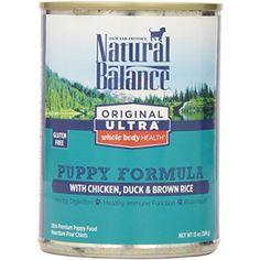 Natural Balance Original Ultra Whole Body Health Chicken Duck Brown Rice Canned Puppy Dog Food, 13 oz by Natural Balance @@ You can visit the image link more details. (This is an affiliate link and I receive a commission for the sales)