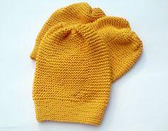 Knit Women Hat/ Knitted Hat/ Yellow Hat/ Teen by NataNatastudio