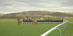 The inspiration behind this epic painting was the artist's desire to recreate the unique atmosphere of Cheltenham Racecourse, to embody the 'spirit' of the home of jump racing.