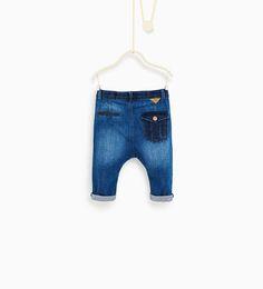 ZARA - KIDS - Contrast fabric jeans