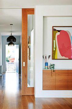 Save Space In Your Home With Interior Sliding Doors Cavity Sliding Doors, Internal Doors, Sliding Glass Door, Timber Sliding Doors, Glass Doors, Slider Door, Bungalow Renovation, Barn Door Hardware, Barn Doors