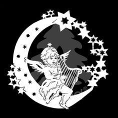 Anděl na měsíci - harfa