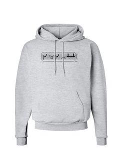 TooLoud Table Flip Text Bubble Hoodie Sweatshirt