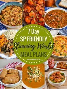 A selection of SP Slimming World Weekly Meal Plans, that takes all the hard work out of meal planning, so all you need to do is cook and enjoy the amazing food. astuce recette minceur girl world world recipes world snacks Sp Meals Slimming World, Slimming World Meal Planner, Slimming World Treats, Slimming World Recipes Syn Free, Slimming World Plan, Slimming Eats, Syn Free Food, Speed Foods, Meals For The Week