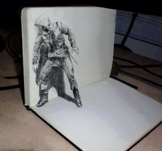 Beautiful 3D Assassin's Creed sketch by Lawineee (http://lawineee.tumblr.com/)