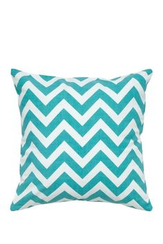"""Chevron Teal Pillow - 18"""" x 18"""" by Pillow Refresh in Spring Colors on @HauteLook"""