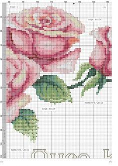 Geri Dönüşüm Projeleri Cross Stitch Boarders, Cross Stitch Rose, Cross Stitch Flowers, Cross Stitching, Cross Stitch Embroidery, Cross Stitch Patterns, Embroidery Flowers Pattern, Flower Patterns, Baby Knitting Patterns