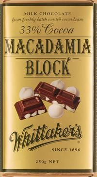 Whittakers Macadamia Chocolate