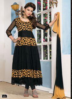 Blck Brasso And Simple Anarkali Suits V & V-SEM385-1005 - Online Shopping Marketplace Shopdrill.com
