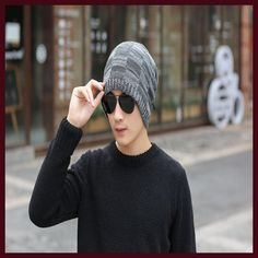 2017 lady winter fashion hat blended knitted female hat Women Skullies Beanies outdoor leisure warm hat fashion ladies Gray T474