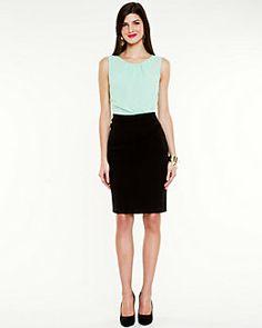 Colour Block Scoop Neck Dress