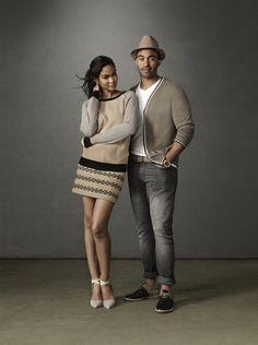 Chanel Iman & Matt kemp for GAP