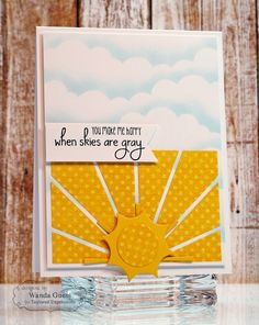 Super cute card plus a full tutorial in easy steps to make a soft blue cloud sky background for your cards.
