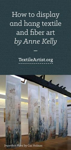 Displaying and hanging textile art is part of Displaying And Hanging Textile Art Textileartist Org - Artist Anne Kelly presents her practical advice for hanging textile art to help you display your work as successfully and effectively as possible Textile Fiber Art, Textile Artists, Textile Fabrics, Textiles Techniques, Art Techniques, Fabric Manipulation, Silk Painting, Fabric Art, Art Tutorials