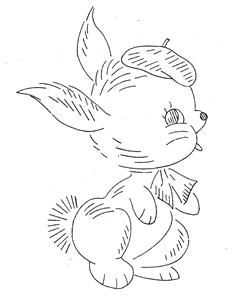 Hand Embroidery Pattern Design 7090 Nursery Animals for A Crib Quilt 1960s   eBay