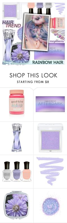 """""""#387 Periwinkle"""" by mayblooms ❤ liked on Polyvore featuring beauty, Lime Crime, Urban Decay, Lancôme, RMK, Deborah Lippmann, The Gypsy Shrine and unicornhair"""