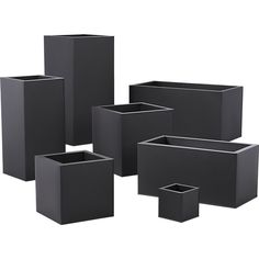Shop blox small square galvanized charcoal planter.   Charcoal planter squares up sleek and modern.  Protected for indoor and outdoor settings, matte-finished galvanized steel plays up refined industrial to dramatic effect.