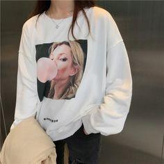 "Use coupon ""PIN10"" to get 10% off SWEATER PRINTING WHITE BLACK AUTUMN  #grunge #apparel #store #cute #korean #style #FreeShipping #Worldwide #print #ulzzang #southkorean #koreanfashion #fashion #trendy #kawaii #harajuku #aesthetic #aesthetics #japanese #tumblr #clothing #outfit"