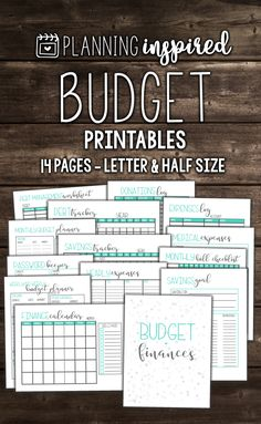 Budget worksheets from Planning Inspired. This budget printables pack includes 14 pages in two sizes!