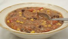 Taco Soup - A soup so hearty and thick that it almost qualifies as chili. Either way, you'll love it!