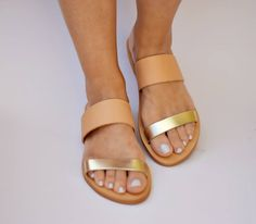 leather sandals,handmade sandals,gold leather,womens sandals,gifts,greek sandals,womens shoes,doughter sandals,sandals,mommy and me by FEDRAinspirations on Etsy
