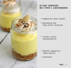 No-bake citroncheesecake med lakridsmarengs