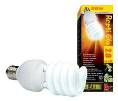 Amazon.com: Exo Terra Repti-Glo 2.0 Compact Fluorescent Full Spectrum Terrarium Lamp, 26-Watt: Pet Supplies