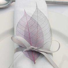 Real Flower Petal Confetti, Wedding, Skeleton Leaves, Leaf