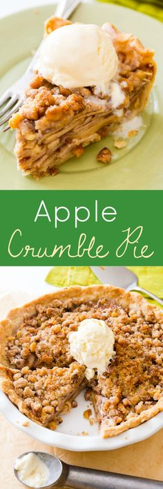 You haven't had apple pie until you've had THIS Apple Crumble Pie! from @sallybakeblog