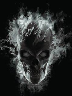 240 x 320  , ghost-skull-wallpaper