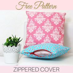 Store bought cushion covers can be expensive so making your own is not only satisfying but will save you a lot of money. How to make zippered cushion covers