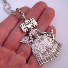 Victorian Camera Girl Necklace ... I have to have this.