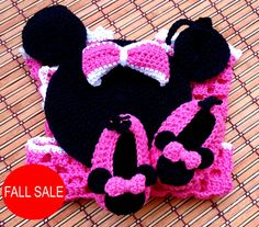2 PATTERNS Miss Bow Mouse Romper and Shoes por BeautyCrochetPattern, $7.50