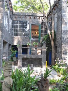 Frida Kahlo's house in Coyoacan, MX.  So beautiful, if you're a fan, go visit!