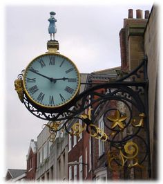You will see this clock as you walk down Coney Street hung outside a church