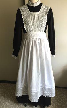 Downton Abbey Edwardian Maid Dress (Part Finished! Housekeeping Uniform, Staff Uniforms, Maid Uniform, Maid Dress, Aprons Vintage, Vintage Sewing Patterns, Sewing Ideas, Downton Abbey, White Dress