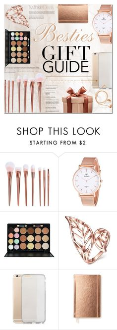 """""""For the rose gold lover / TwinkleDeals"""" by purpleagony ❤ liked on Polyvore featuring beauty, Kate Spade, Happy Plugs, giftguide, rosegold, Bestie, giftideas and twinkledeals"""