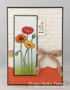CT1012 - French Poppies by mum of 2+2 - Cards and Paper Crafts at Splitcoaststampers